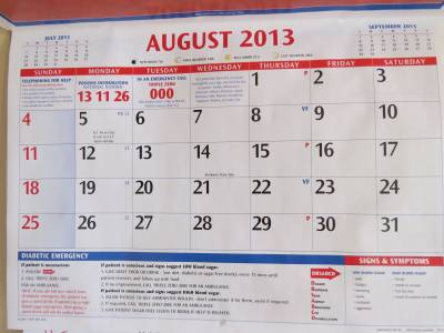 Calendar blank i