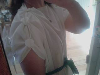 Roman underdress with buttons side view