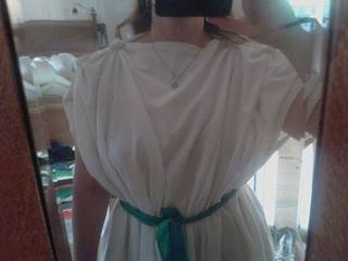 Roman underdress with sewn buttons front view