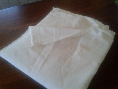 half a double cotton sheet